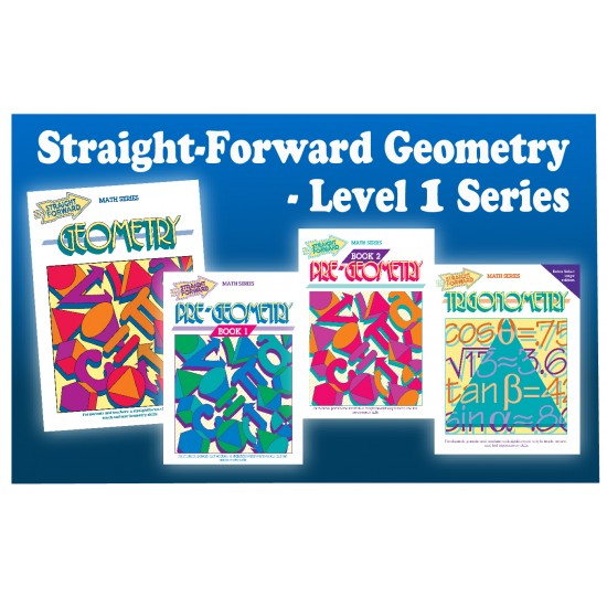 Straight Forward Geometry: 4-Book Set