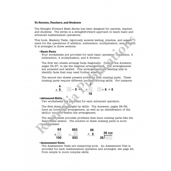 This is a picture of Basic Math Skills Assessment Printable pertaining to grade 3