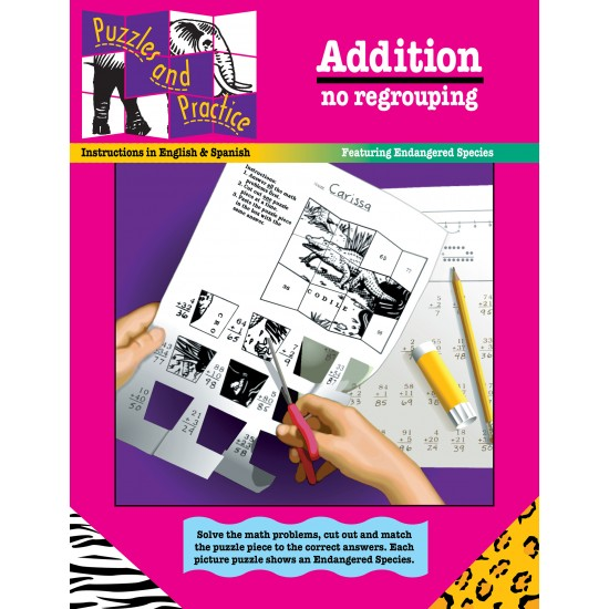 Puzzles & Practice: Addition (No Regrouping)
