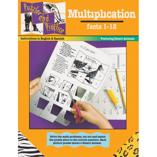 Puzzles & Practice: Multiplication (Factors 1-12)