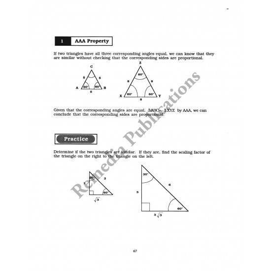 Geometry: Straight Forward Math Series (Large Edition)