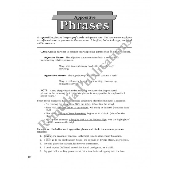 Clauses & Phrases: Advanced Straight Forward English Series