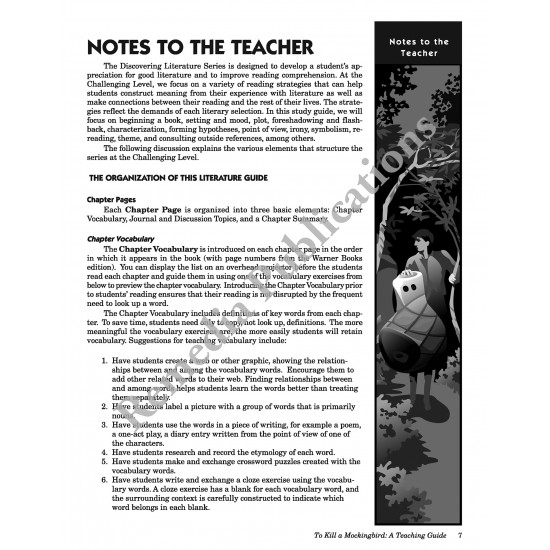 To Kill a Mockingbird: Discovering Literature Teaching Guide