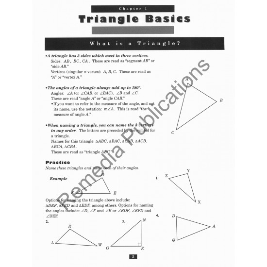 TRIANGLES: Studies in Geometry Series