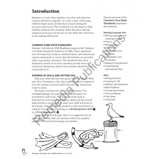 Summer Activities for Fall Readiness (Grade 1)