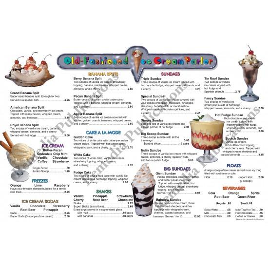 Menu Math: Old-Fashioned Ice Cream Parlor (x, ÷)