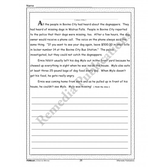 FUNbook of Creative Writing
