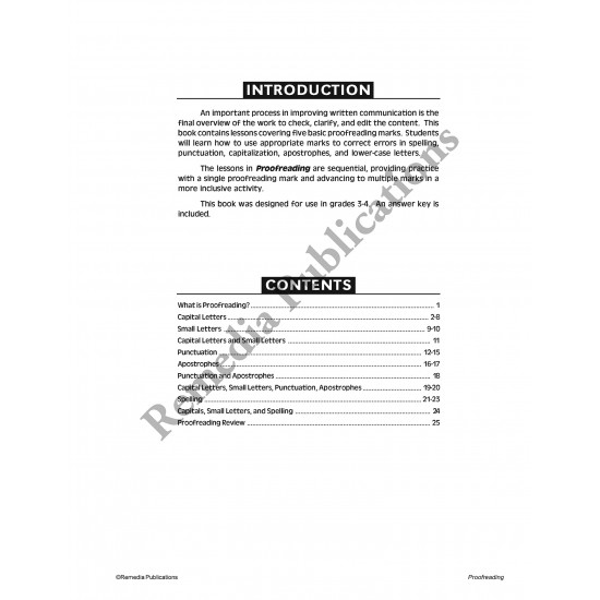 Proofreading (Gr. 3-4)