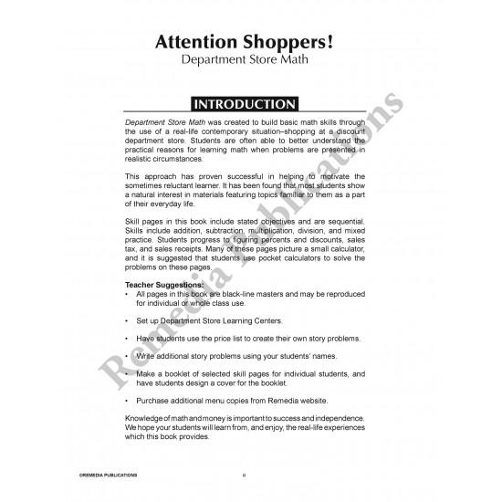 Department Store Math (Activity Book)
