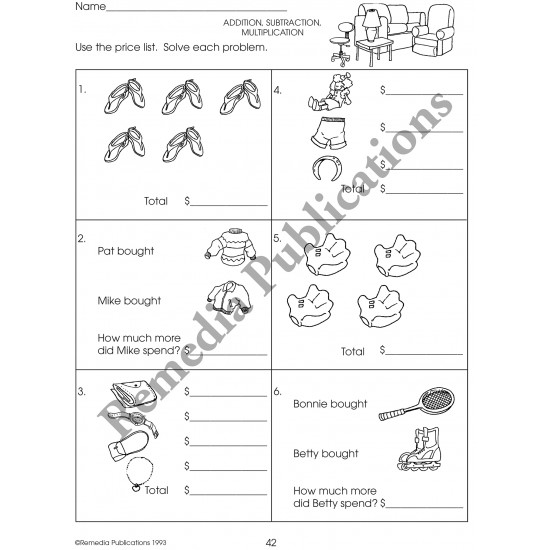 Department Store Math for Beginners (Activity Book)