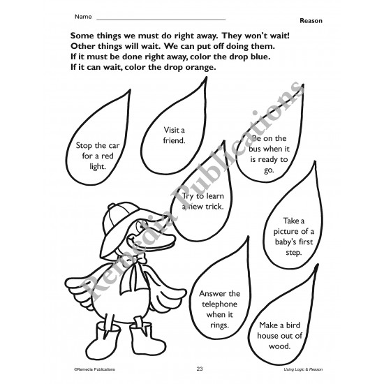 Primary Thinking Skills: Using Logic & Reason