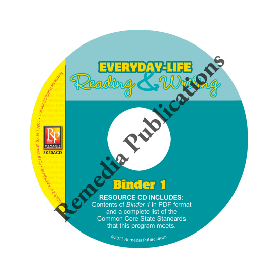 Everyday-Life Reading & Writing Practice: Binder 1