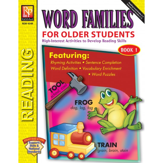 Word Families for Older Students (Book 1)
