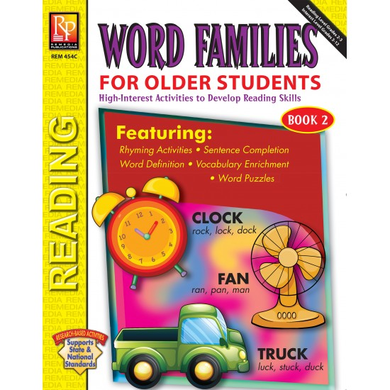 Word Families For Older Students (Book 2)