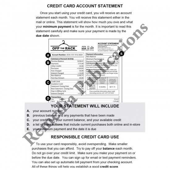 Credit Card Math: Life Skills Math Series