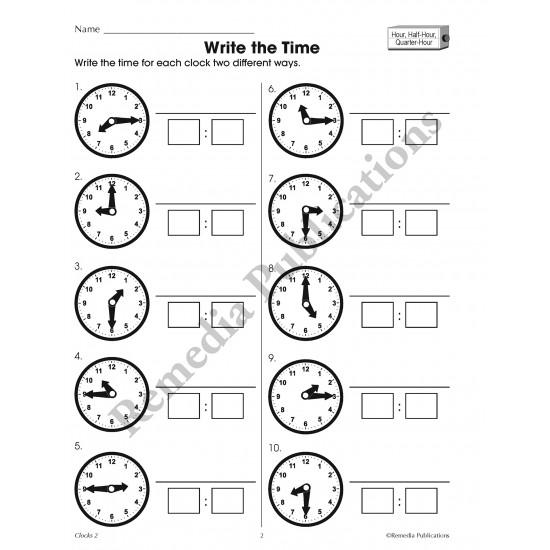Time Concepts Series: Clocks (Grades 3-5)