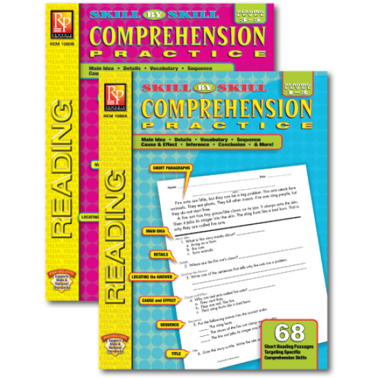Skill-By-Skill Comprehension Practice (2-Book Set)