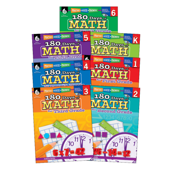 180 Days of Math (7-Book Set)
