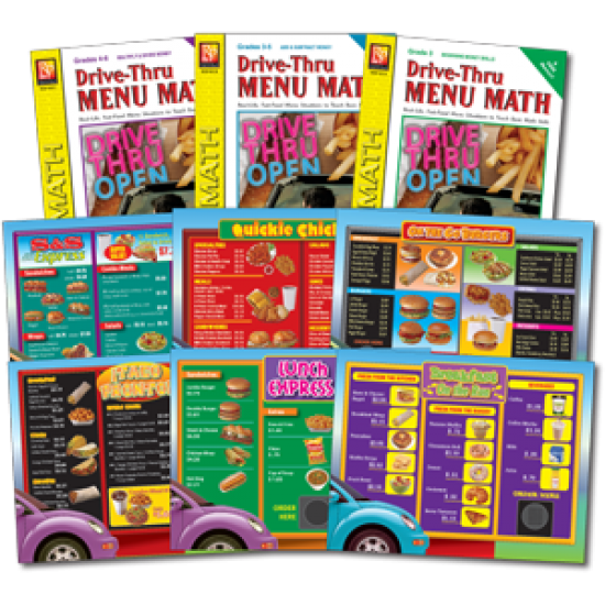 Drive-Thru Menu Math: Classroom Pack