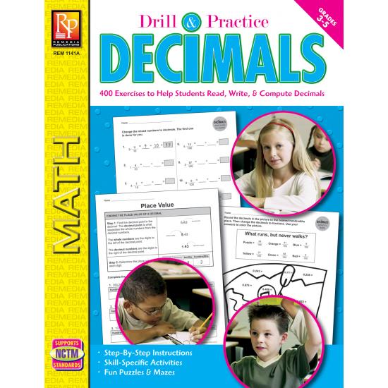 Drill & Practice: Decimals (Gr. 3-5)