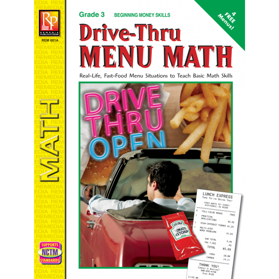 Drive-Thru Menu Math: Beginning Money Skills