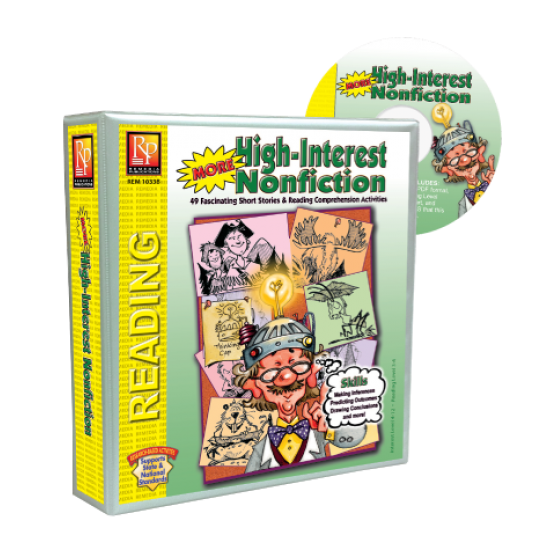 More High-Interest Nonfiction (Binder & Resource CD)