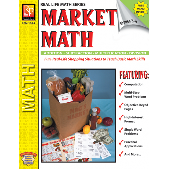 Market Math (Activity Book & Menu)