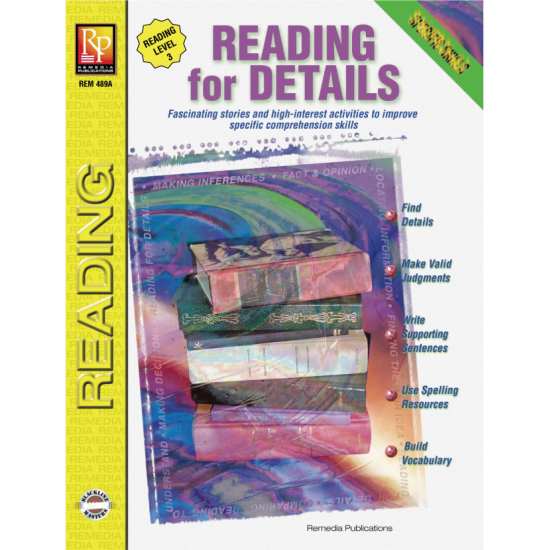 Specific Skills Series: Reading for Details (Reading Level 3)