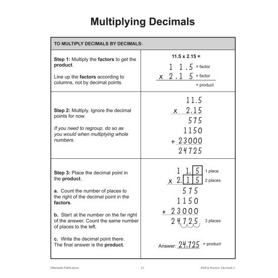 Decimals: Drill & Practice (Gr. 4-6)