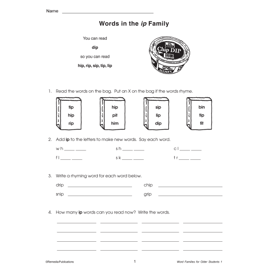 Word Families For Older Students (2-Book Set)