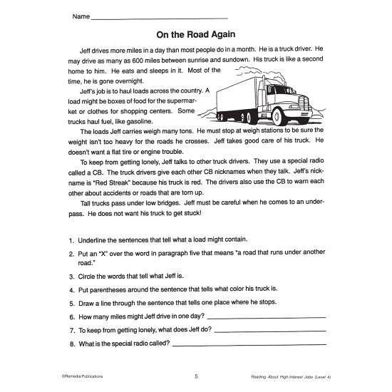 Reading About High-Interest Jobs (4-Books Set)