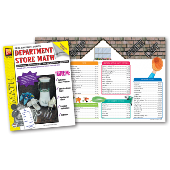 Department Store Math Set (Book & Extra Menus)