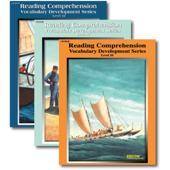 Reading Comprehension & Vocabulary Development: RL 10 (3-Book Set)