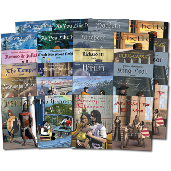 Easy Reading Shakespeare: Reading Level 2-5 (40-Book Set)