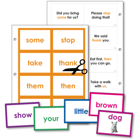 Basic Sight Words (Flash Cards)