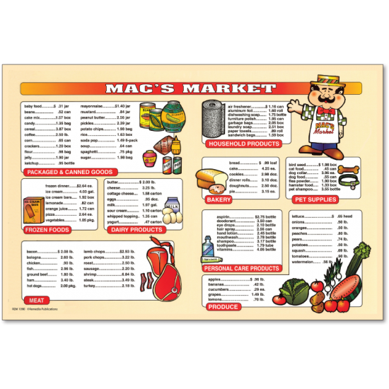 Market Math Set (Book & Extra Menus)