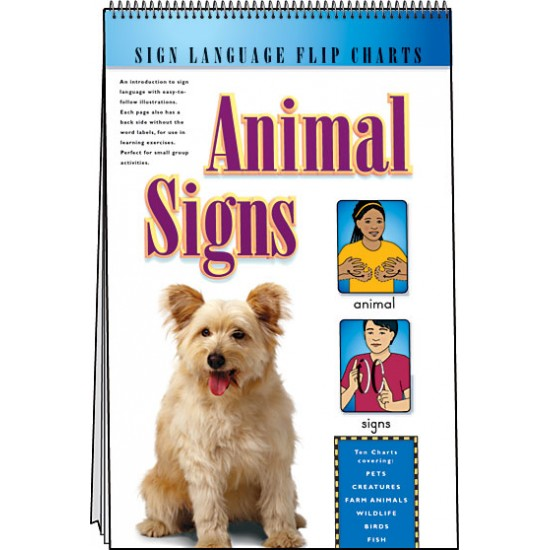 Animal Signs: Sign Language Flip Chart