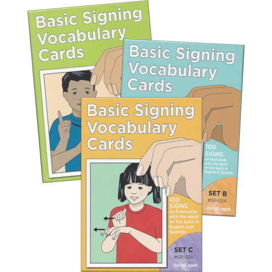 Basic Signing Vocabulary: Sign Language Flash Cards (Complete Set)