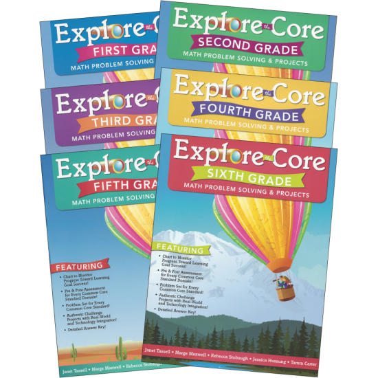 Explore the Core: Math Problem Solving & Projects (6-Book Set)