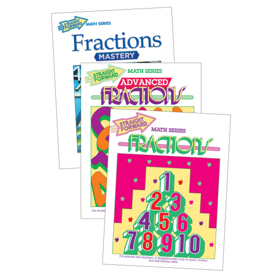 Fractions: Straight Forward Math (3-Book Set)