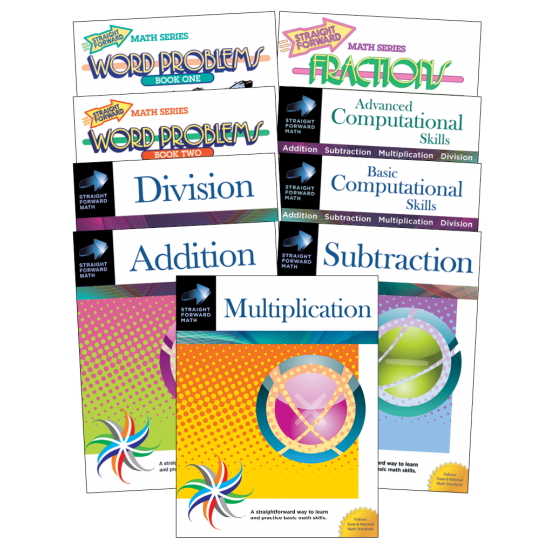 Straight Forward Math Series: Beginning Level (9-Book Set)