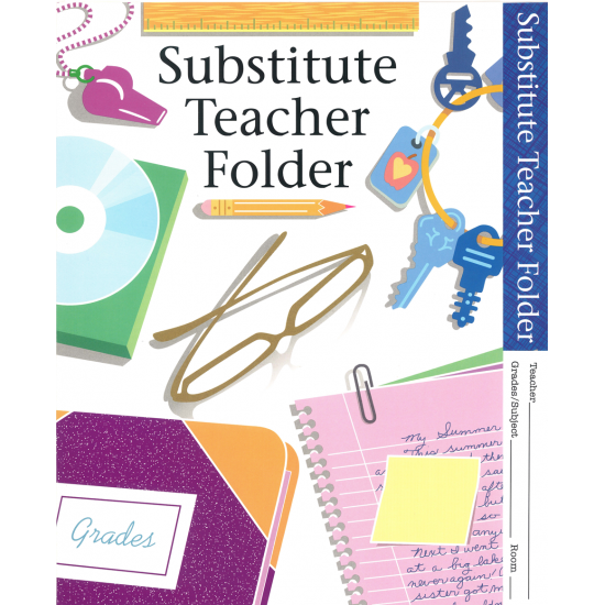 Substitute Teacher Folder (10-pack)