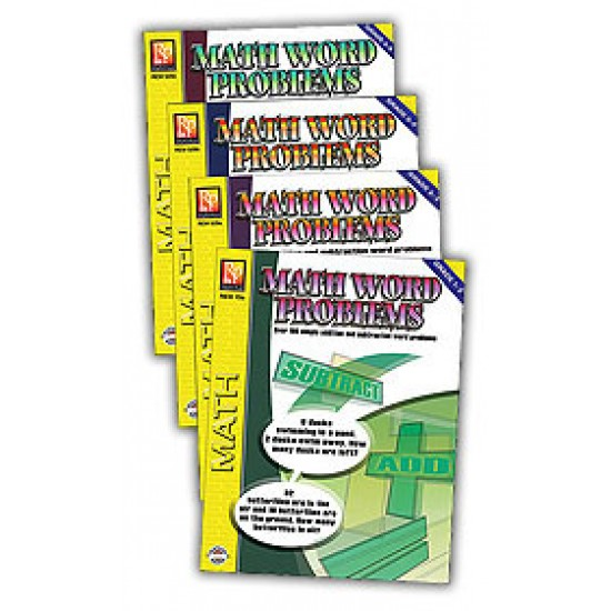 Math Word Problems (4-Book Set)