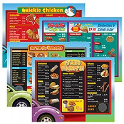 Drive-Thru Menu Math: Intermediate Menus (6-Pack)