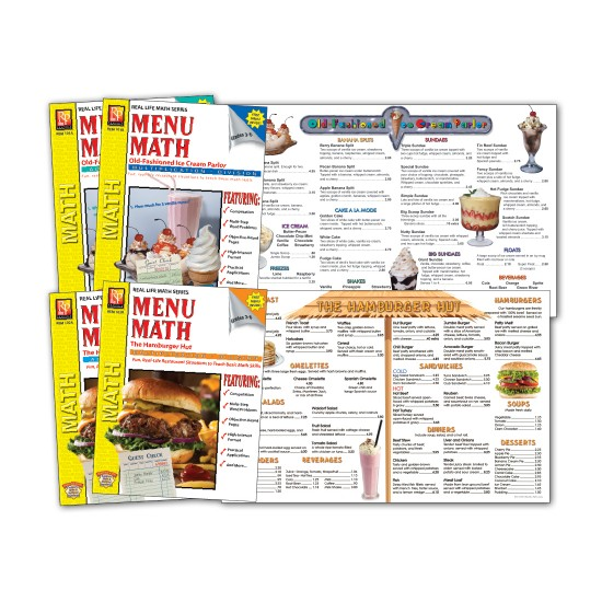 Real Life Math Series: Menu Math Level 2 (Classroom Pack Level)