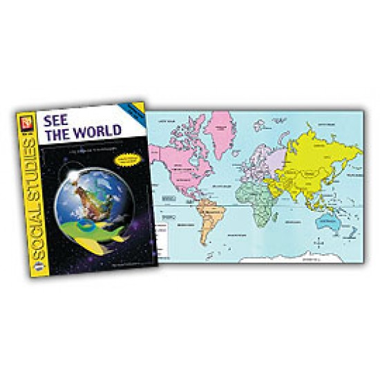 See the World Set (Book & 6 Extra Maps)