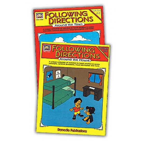 Following Directions Around the House & Town (2-Book Set)
