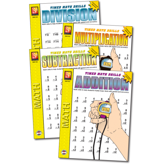 Timed Math Drills (4-Book Set)