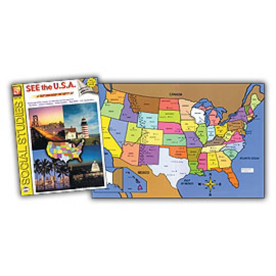 See the U.S.A. Set (Book & 6 Extra Maps)