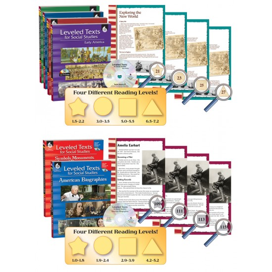 Leveled Texts for Social Studies (6-Book Set)